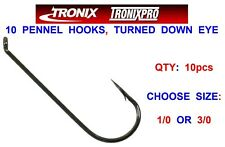 10 TRONIX PENNEL HOOKS FOR SEA FISHING LINE BAIT CLIP DOWN PULLEY FLAPPER RIGS