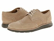 Men's Shoes Cole Haan LunarGrand Wingtip Suede Oxfords C13950 Milkshake *New*