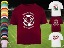 HEARTS Football Baby/Kid's/Children's T-shirt Top Personalised - Any colour/team