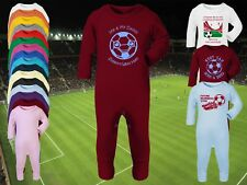WEST HAM UNITED Football Baby Romper Sleep Suit Personalised Cute Gift- Any team
