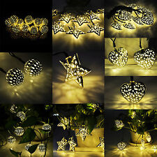 Warm White Solar Powered 10LED String Fairy Light Outdoor For Christmas Party 3M