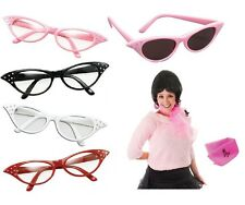 Grease Rock n Roll Fancy Dress costume 1950's 50's Bopper GLASSES & SCARF SET