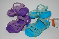 NWT CROCS ADRINA HEARTS GIRLS PURPLE BLUE 6 7 8 9 10 11 toddler sandals shoes