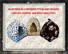IGLOO PYRAMID CAT BED 3 COLOURS SUITABLE FOR RABBITS GUINEA PIGS SMALL PETS