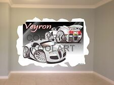 Huge Koolart Cartoon Bugatti Veyron Twin Image Wall Sticker Poster Mural 3001