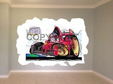 Huge Koolart Cartoon F1 Ferrari F1 (M Schumacher) Wall Sticker Poster Mural 229