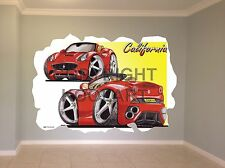 Huge Koolart Cartoon Ferrari California Wall Sticker Poster Mural 2609