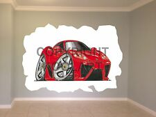 Huge Koolart Cartoon Ferrari Marinello Wall Sticker Poster Mural 936