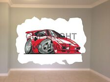 Huge Koolart Cartoon Lamborghini Diablo Wall Sticker Poster Mural 106