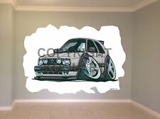 Huge Koolart Cartoon Vw Golf Mk2 Wall Sticker Poster Mural 2451