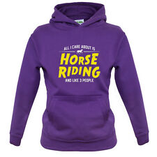 All I Care About Is Horse Riding - Kids / Childrens Hoodie - Equestrian - Jockey