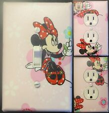Minnie Mouse custom Light Switch wall plate covers man cave room decor