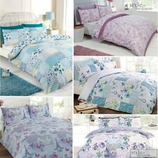 Floral Patchwork Reversible Shabby Chic Duvet Quilt Cover Bedding Set