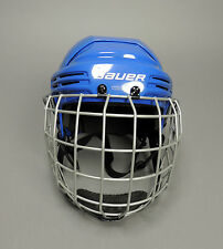 NEW Bauer 2100 Hockey Helmet Combo Blue with Silver Cage Senior CHOOSE SIZE SR