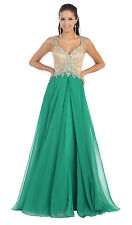 Prom Party Dress Floor Length Chiffon Formal Dress Maid of Honor Marine Ball