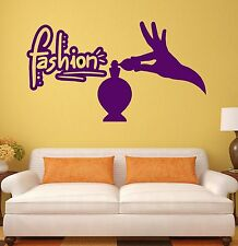 Wall Sticker Fashion Girl Women Room Eau de Toilette Beauty Vinyl Decal (ig2016)