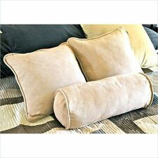 """Blazing Needles 18"""" Futon Micro Suede w/Bolster Package Set Pillows"""