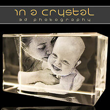 3D PHOTO CRYSTALS // Canvas Print - Glass Engraving - Gifts // 1 Day Dispatch !!