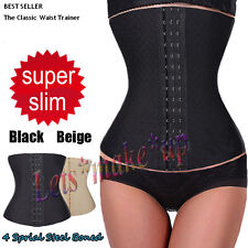 New Sexy 4 Spiral Steel Boned Waist Training Underbust Corset Shaper Waspie Top