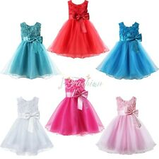 Girls Party/Bridesmaid/Princess/Prom/Wedding/Christening Flower Dress Age 12M-7Y