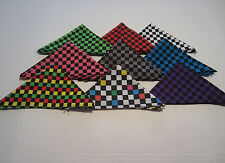 CHECKER BANDANA  FROM HOT TOPIC DIFFERENT COLORS TO CHOOSE FROM