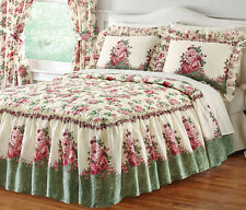 Collections Etc Floral English Rose Garden Bedspread