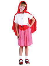 Girls Little Red Riding Hood Fancy Dress Costume Kids Fairytale Book Week Outfit