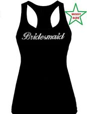 Rhinestone Bridesmaid Wedding Tank Top Shirt,MISSY SIZE XS to 2XL bridal party