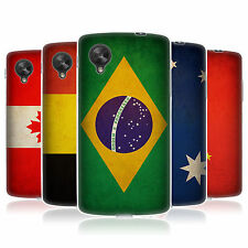 HEAD CASE VINTAGE FLAGS SET 1 SILICONE GEL CASE FOR LG GOOGLE NEXUS 5 D820
