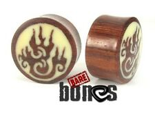 "Bare Bones Pair of Organic Blood Wood Plugs 9/16"" to 1"" [Select Your Size]"