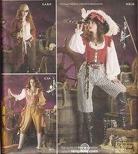 Misses' Lady Pirate & Captain Costume Pattern Simplicity 3677 - Size Choice