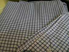 JCPenney home BLUE & WHITE CHECK LINED DRAPERY PAIR Curtains with Tiebacks