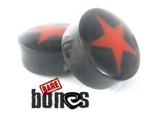 """Bare Bones Pair of Organic Buffalo Horn Plugs 8G to 1"""" [Select Your Size]"""