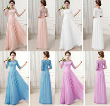Long Chiffon Evening Formal Party Ball Gown Prom Bridesmaid Dress Size: 6-12