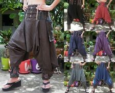 Harem Drop Low Crotch Bohemian Yoga Boho Baggy Hippie Aladdin Pants Trousers