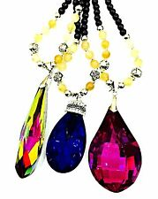 New WOW Big Gem Jewellery Pendant Long Chain Chunky Statement Beads Necklace