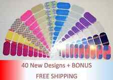 JAMBERRY Nail Wraps - 40 New Designs - Half sheets- FREE SHIPPING