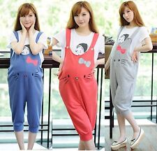 Comfort Womens Pregnancy Maternity Overalls Jumpsuit Cropped Pants Casual Romper