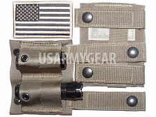 2 USMC Army Coyote MOLLE Keeper Alice Adapter Belt Clip Pouch SDS US Flag Patch