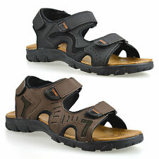 MENS VELCRO COMFORT SUMMER WALKING HOLIDAY BEACH SANDALS MULES SLIPPERS SPORTS