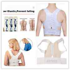 Magnetic Therapy Posture Back Shoulder Corrector Support Brace Belt S-XXL