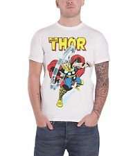 Marvel The Mighty Thor Official Mens White T Shirt