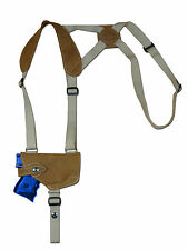 NEW Barsony Olive Drab Leather Shoulder Holster Astra Beretta Comp 9mm 40 45 HOR