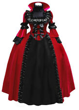 Ladies Gothic Witch Victorian Halooween Lolita Dress Cosplay Costume Outfit
