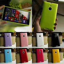 Soft Silicone Gel Case Cover For Nokia Lumia 1520 + Screen Protector