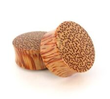 "Bare Bones Pair of Organic Coconut Wood Plugs 4G to 1  1 /2"" [Select Your Size]"