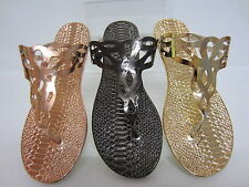 Spot On F0800 Ladies toe-post sandal Copper, Pewter or Gold UK3 X 8