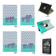 Owl 360° PU Stand Flip Case Cover For Amazon Kindle Fire HD 7 2014 4th Gen
