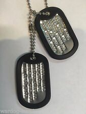 MILITARY CUSTOM ID DOG TAGS WITH CHAIN & SILENCERS OFFICIAL GI ARMY USMC SPEC