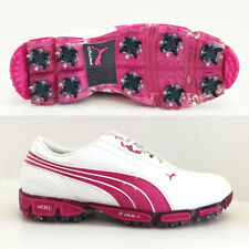 PUMA AMP CELL FUSION SL GOLF SHOES WHITE-VERY BERRY  RICKIE FOWLER 186156  NEW!!